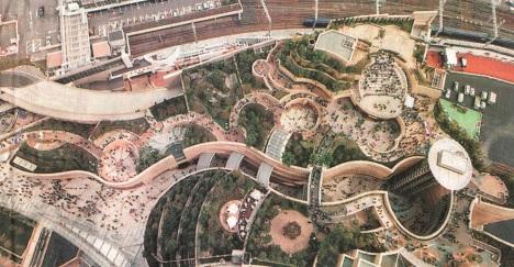 Taman Atap di Namba Park