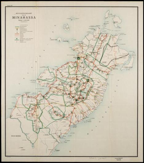 Peta Sulut tahun 1922
